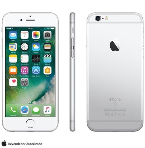 Iphone 6s Prata, Com Tela de 4.7 4g, 128 Gb, e Câmera de 12 Mp - Mkqu2br/a - Aemkqu2brapta Bivolt