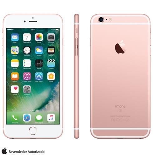 Iphone 6s Plus Rosa Dourado, Com Tela de 5.5 4g, 128 Gb, e Camera de 12 Mp - Mkug2bza - Aemkug2bzarsa